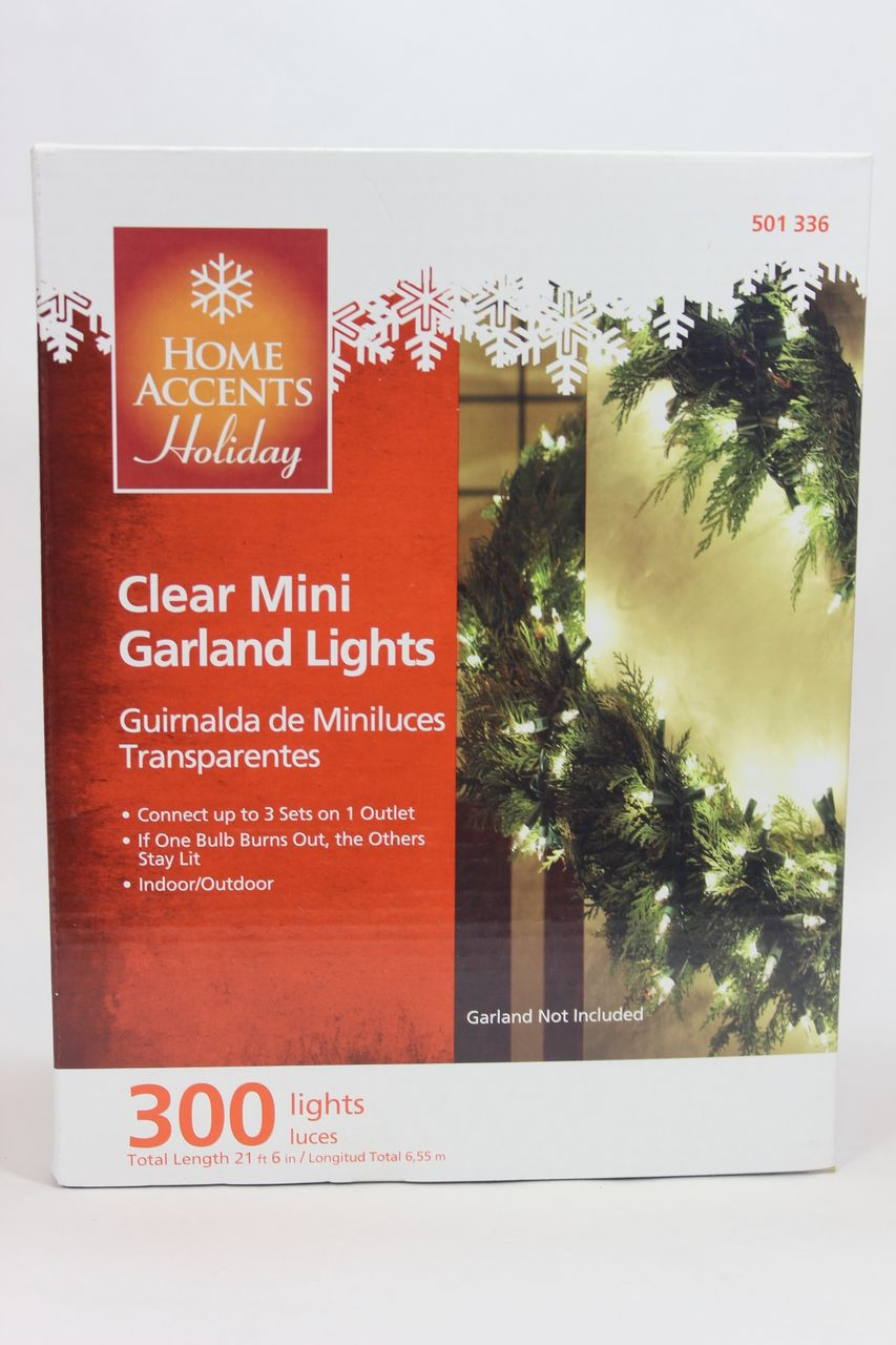 The Jolly Christmas Shop - 18' Clear Garland Lights, $14.99 (http ...