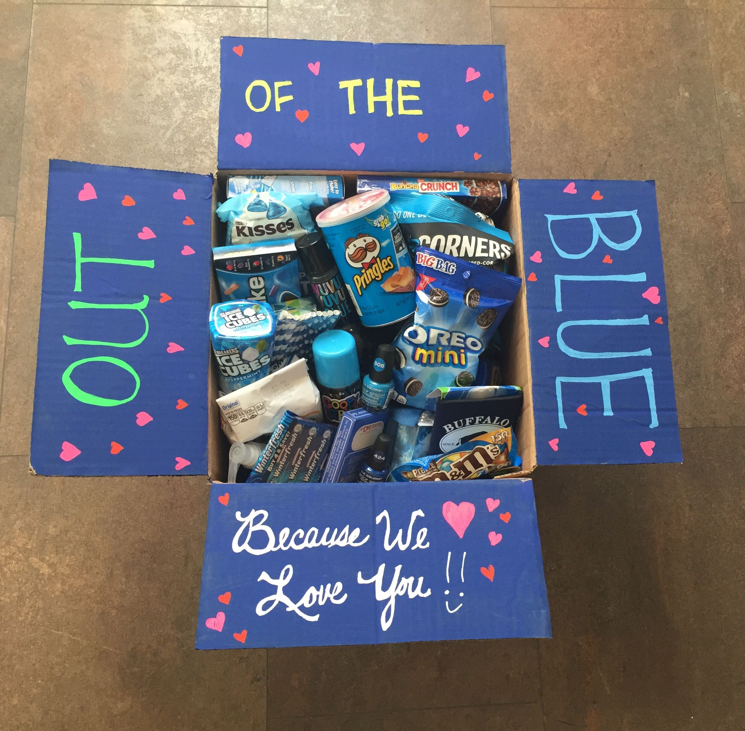 Care package for my college girl creative birthday gifts