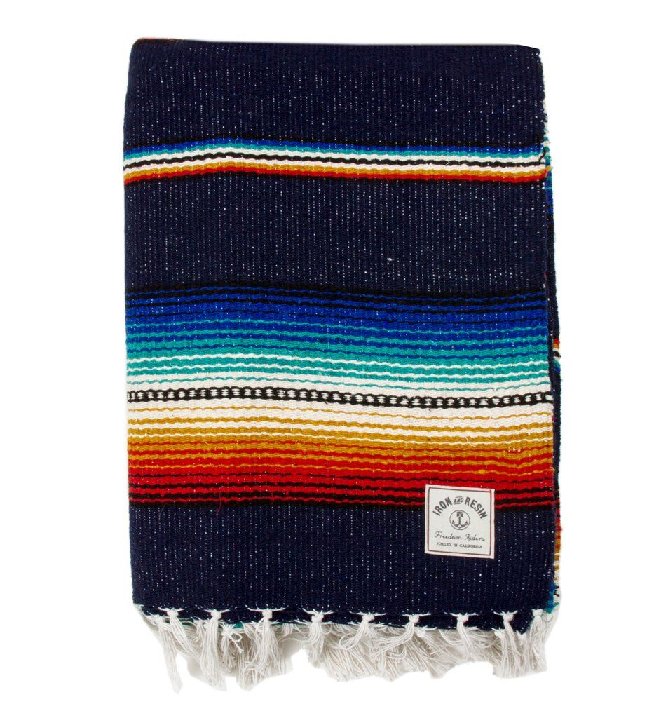 • Stripe Style Serape • Bold Southwestern colors • Great as throw blankets, shawls, wall hangings, and beach blankets. • Approx 5'x6'