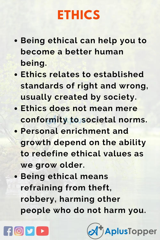 Ethicsessay Essayonethic Aplustopper Essay Spiritual Value Moral Values Core