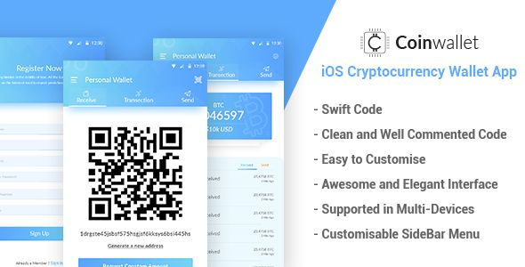 CoinWallet iOS Cryptocurrency Wallet Template