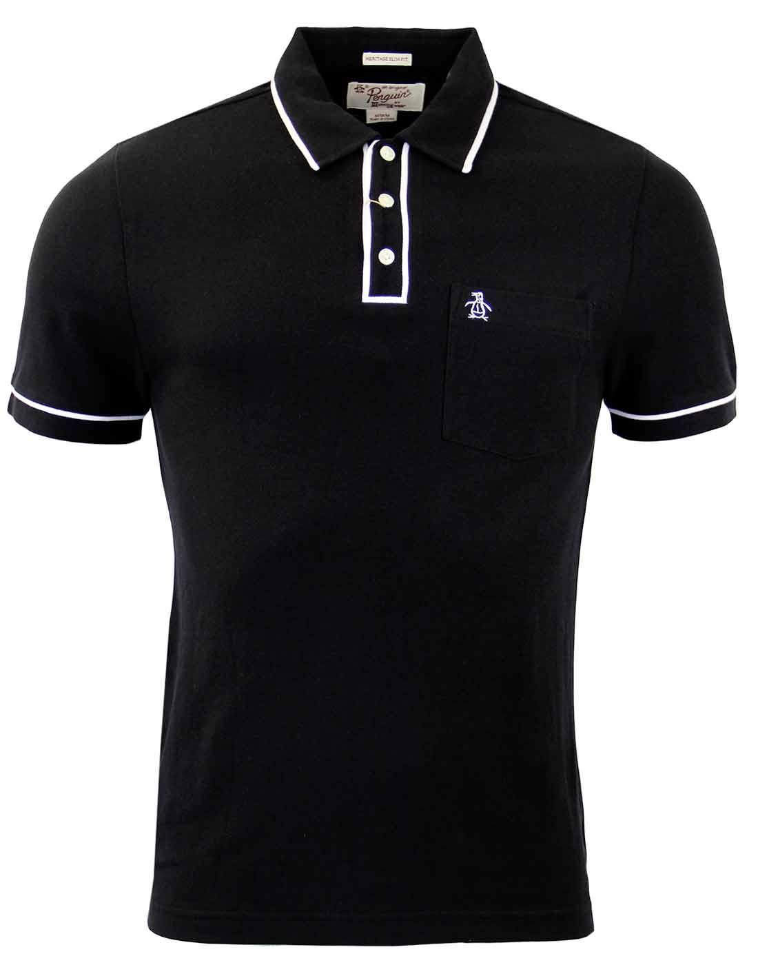c2a4d5bec Brand: Original Penguin by Munsingwear. Key Points: Original Penguin True  Black Earl Polo Shirt wit