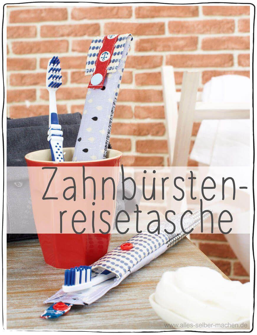 Zahnbürsten-Reisetasche - HANDMADE Kultur
