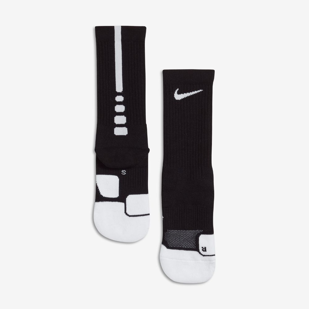 112e80335 Nike Dry Elite 1.5 Crew Basketball Socks Size Medium (Black ...