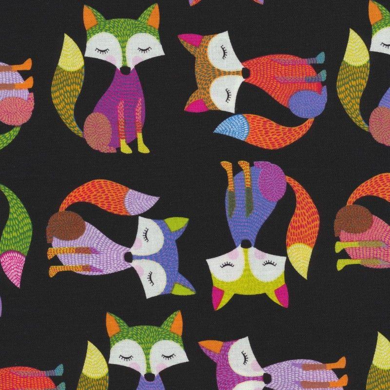 Foxy Owl Foxes - Black