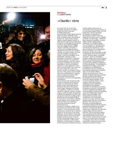 Libération, journal numérique du 8 janvier 2015