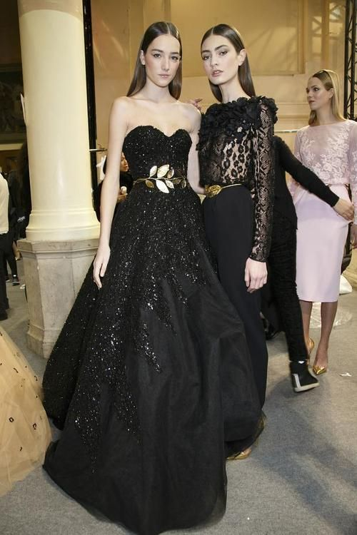 IKΔRO / Joséphine Le Tutour and Marine Deleeuw - Backstage at Zuhair Murad Spring 2014 Couture