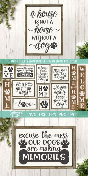 Dog Sign svg Bundle, Dog svg, Dog Sign svg, Dog svg Bundle, Dog svg Files, Dog Lover svg, Dog svg Files for Cricut, dxf, png, Commercial Use