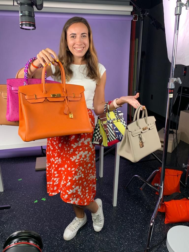 All The Details Behind The Scenes Photos Of My Birkin Reveal With Cnbc It S One Of The Most Unique Birkins Birkin Hermes Bag Birkin Celebrity Fashion Trends