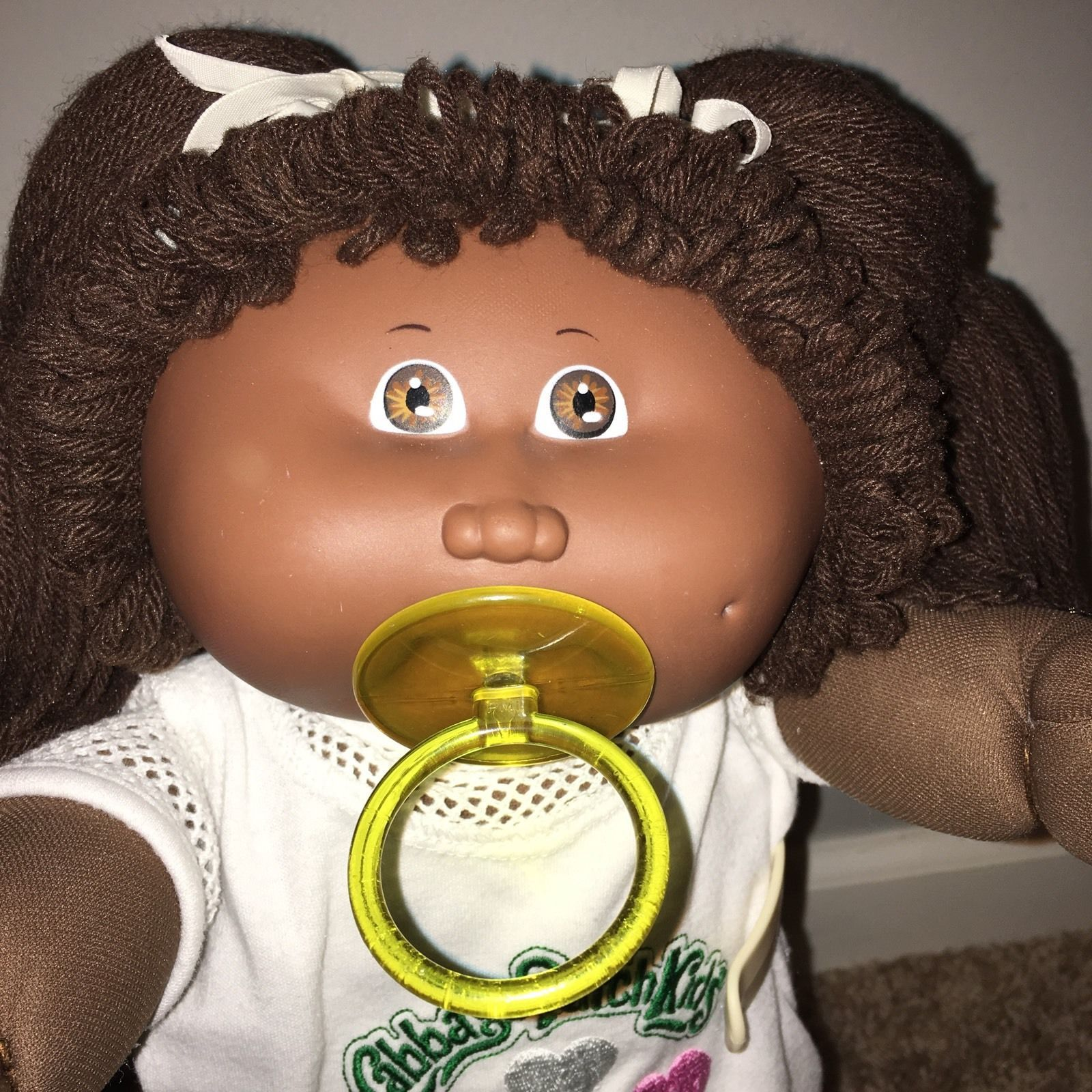 Vintage Cabbage Patch Kids African American Aa Hm6 Pacifier Girl In Htf Outfit Pacifier Girl Cabbage Patch Cabbage Patch Kids