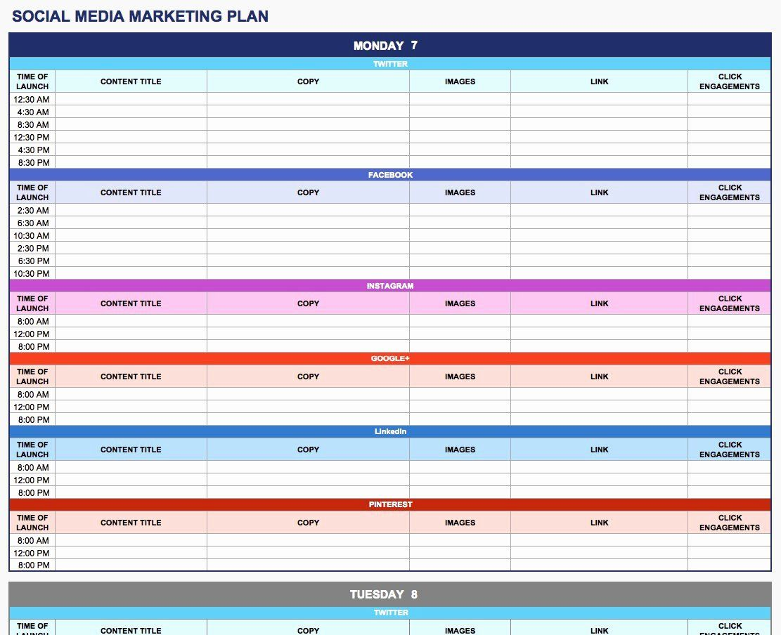 Simple Marketing Plan Template Inspirational Free Marketing Plan Templates For Ex Marketing Plan Template Social Media Planning Template Marketing Plan Outline Social media marketing plan template