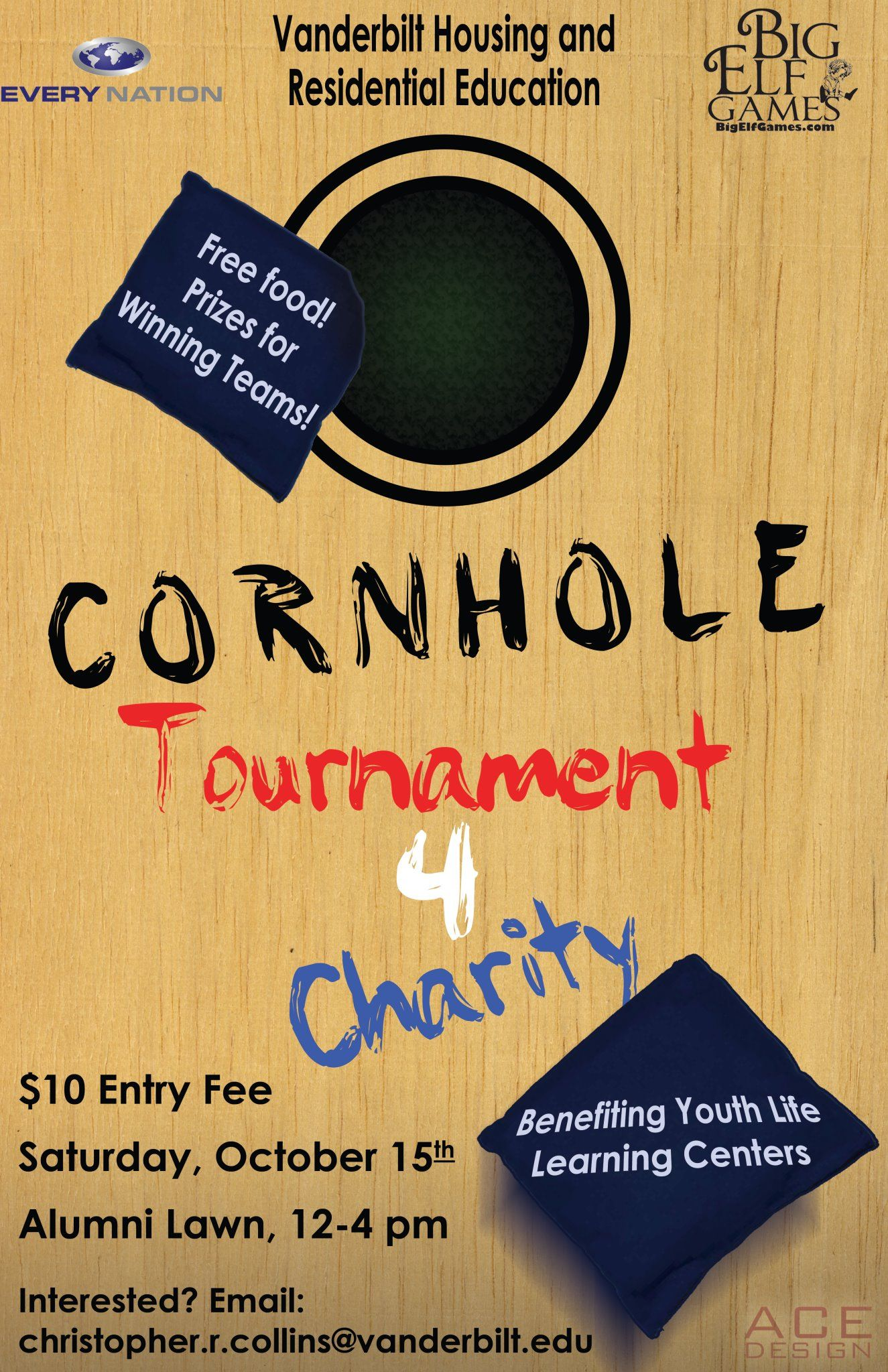 Cornhole Tournament Flyer Template