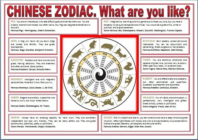 english stuff esl chinese zodiac intermediate worksheet zodiac astrology chinese zodiac. Black Bedroom Furniture Sets. Home Design Ideas