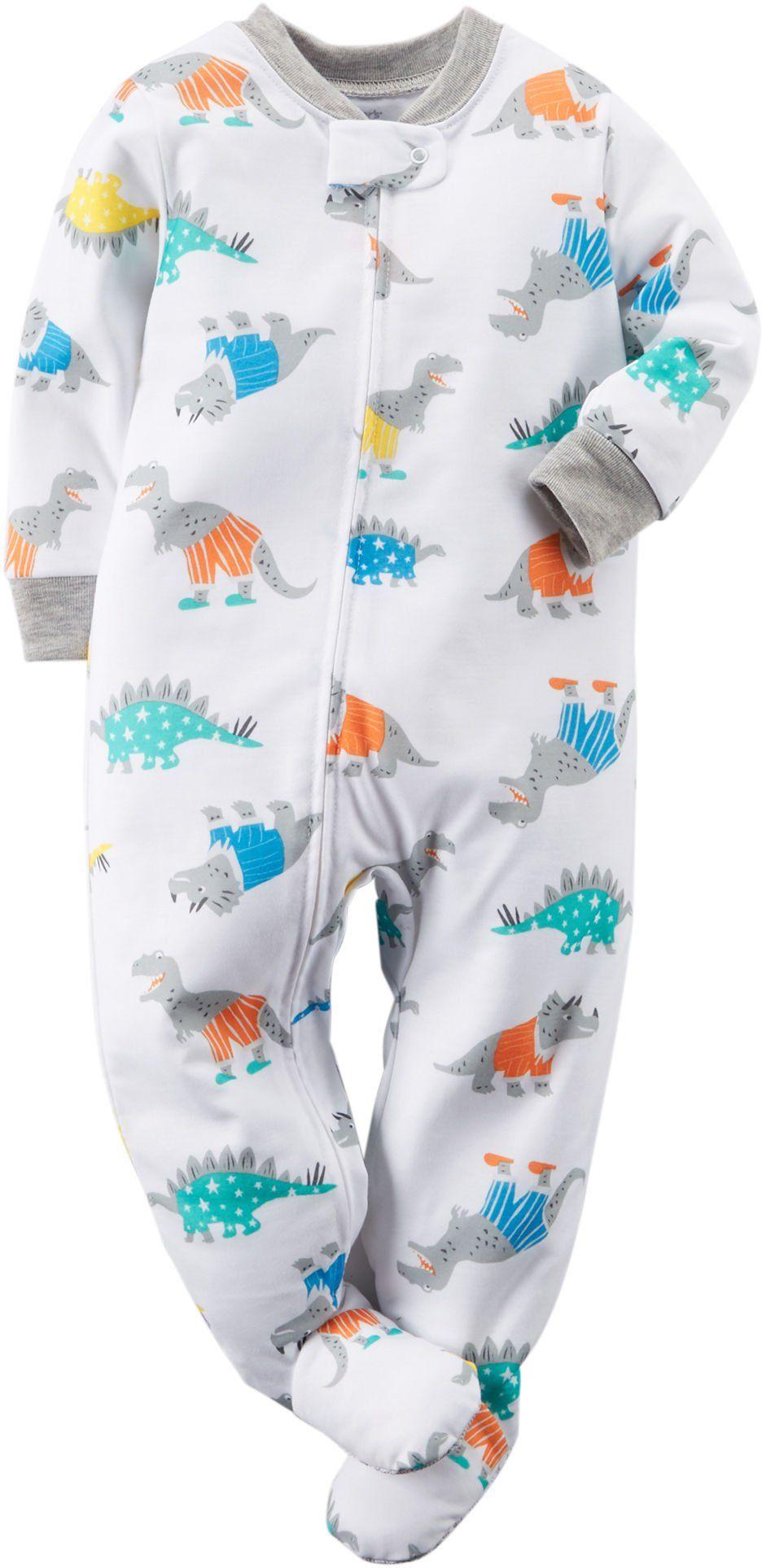 7ac8d5bd19a6 Carters Dinosaur-Print Blanket Sleeper - Baby Boy. Body  100 ...