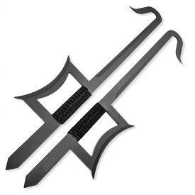 Black Chinese Hook Swords | ninja gear | Chinese weapons, Sword