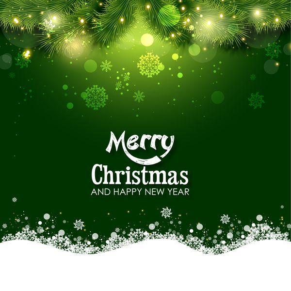 Green christmas background design vector 02 -   wwwwelovesolo