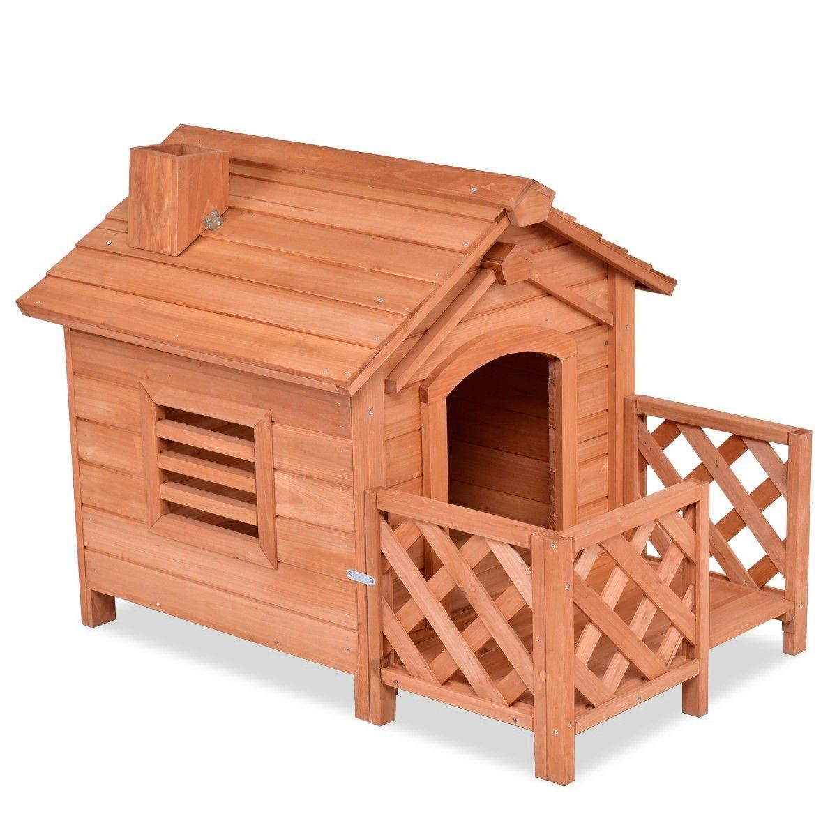 Outdoor Natural Fir Wood Dog House For Small Dogs Wood Dog House