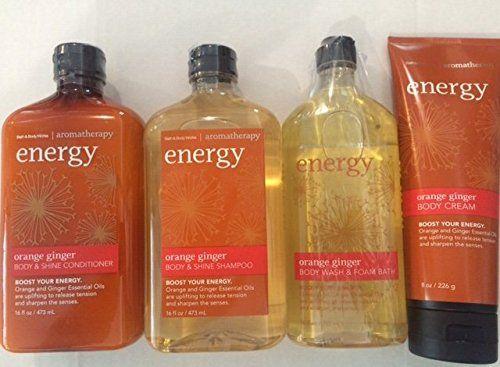 Bath Body Works Aromatherapyfull Size Orange Ginger Shampoo Conditioner Body Washfoam Bath And Body Cream Gift S Bath And Body Works Foaming Body Wash Shampoo