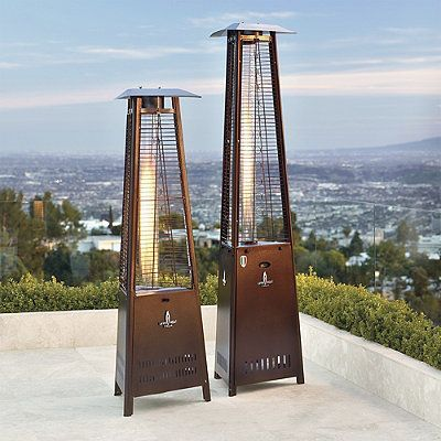 Delightful Empire Patio Heater   Stainless Steel   Frontgate
