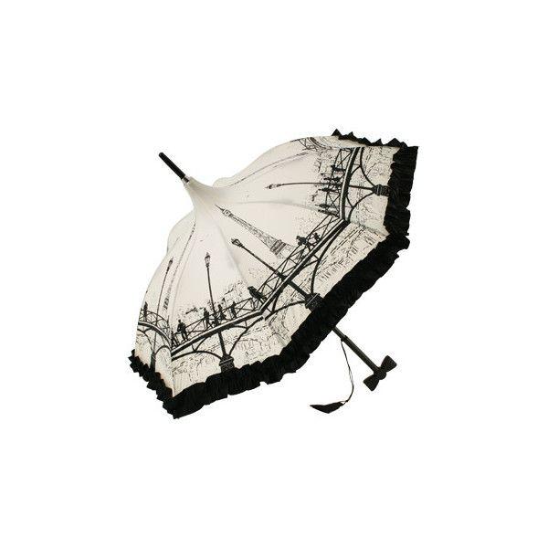 Brolliesgalore Les Ponts Du Paris Sun Parasol by Guy de Jean ($145) ❤ liked on Polyvore featuring accessories, umbrellas, umbrella, parasol and other