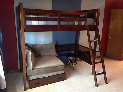 Costco Bunk Bed With Built In Desk Beds Bed Loft Home Projects
