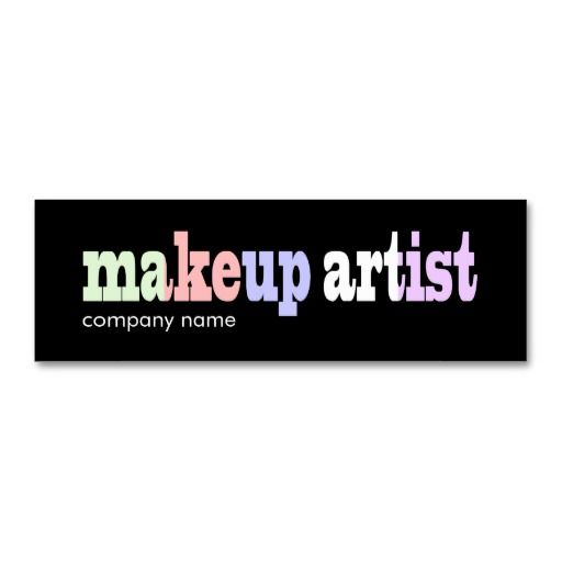 Makeup artistbeauty salon business card template business cards makeup artistbeauty salon business card template accmission Image collections