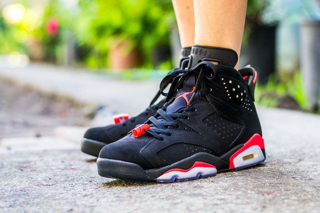 Air Jordan 6 Black Infrared On Feet Sneaker Review