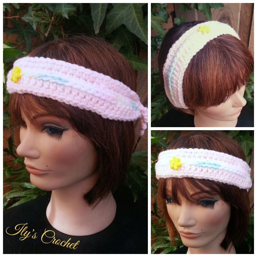 1930\'s style headband, that can be used as a normal headband too ...