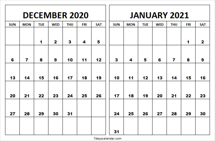 Dec 2020 Jan 2021 Calendar Printable Template Print 2020 December Month Calendar With Notes Editable Bla In 2020 Calendar Printables 2021 Calendar Template Printable