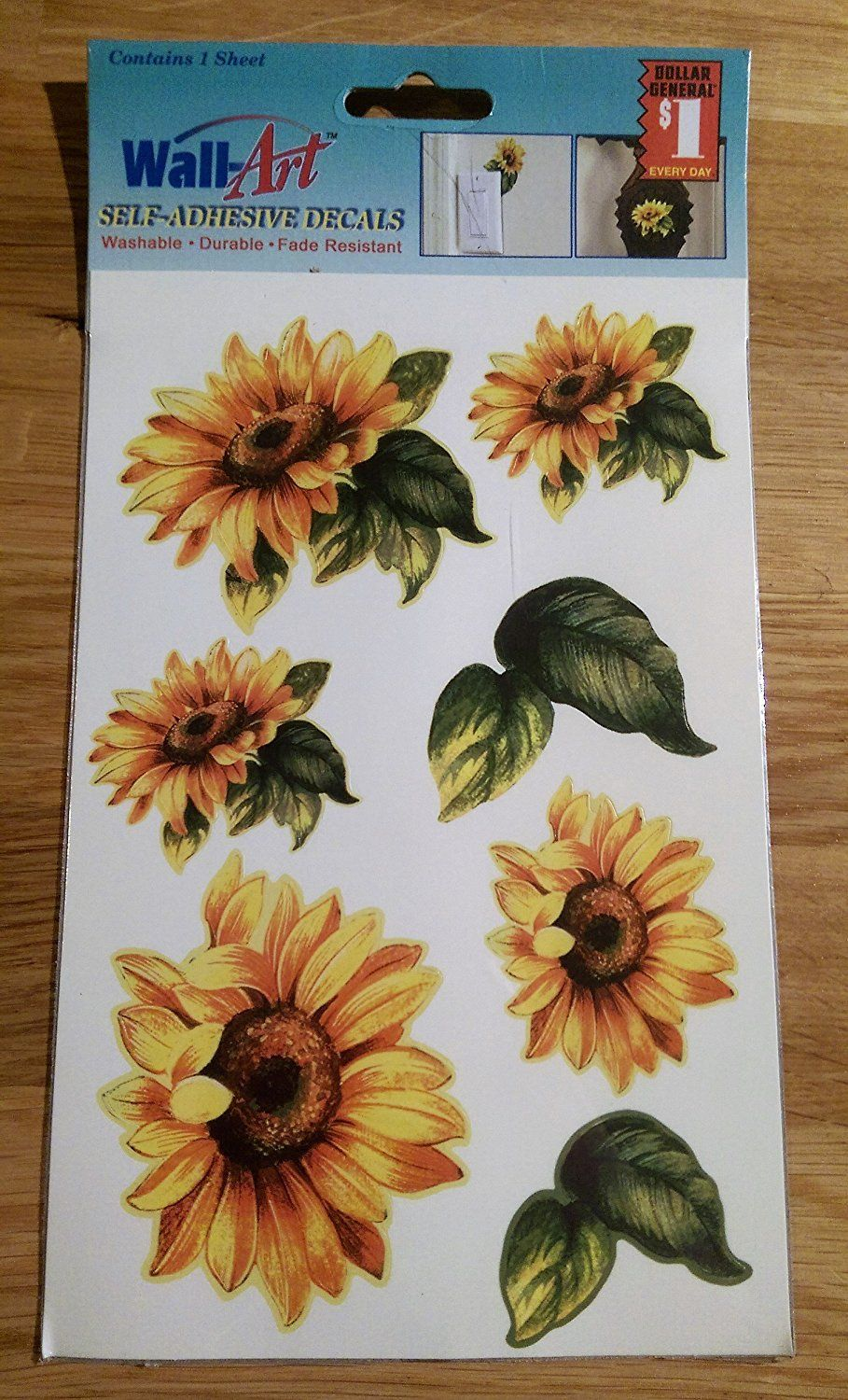 Daisy Wall-Art Self-Adhesive Decals >>> To view further for this item, visit the image link.