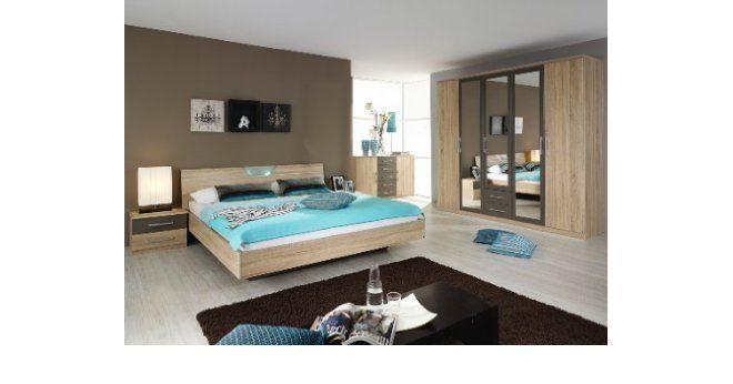 rauch Schlafzimmer Valence,4-teilig Eiche Sonoma\/lavagrau Eiche - schlafzimmer eiche