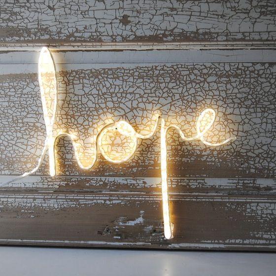 """Image of ★ Mot lumineux """" hope """""""