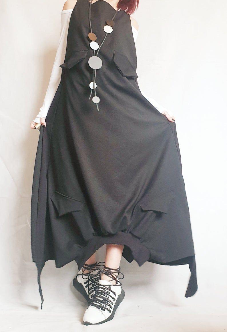 Long Loose Dress Pockets Black Dress Asymmetric Dress Etsy In 2021 Pocket Dress Loose Dress Asymmetrical Dress [ 1162 x 794 Pixel ]