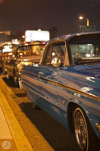 Estevan Oriol S Blue Velvet Outside Like Father Like Son Exhibit 64 Impala Lowrider Classic Cars 64 Impala
