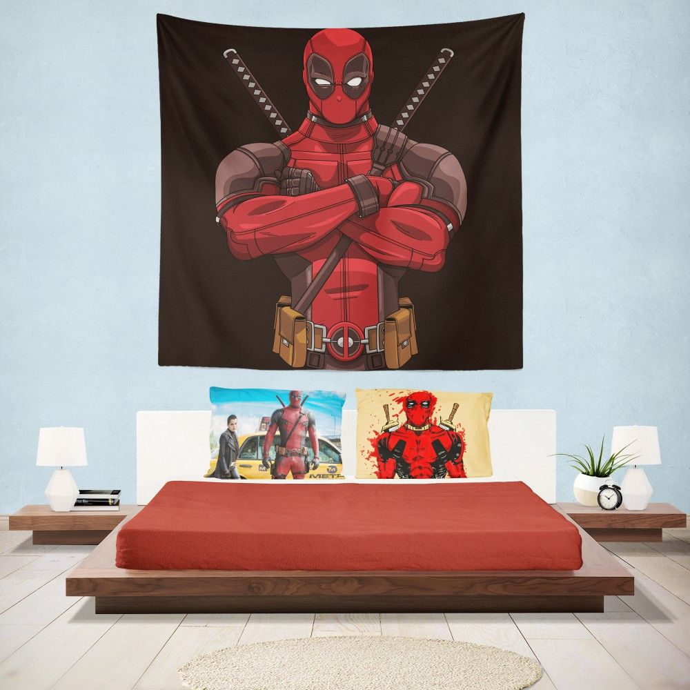 Deadpool Bettwäsche Deadpool Minimal Artwork Bedroom Wall Hanging Tapestry Super