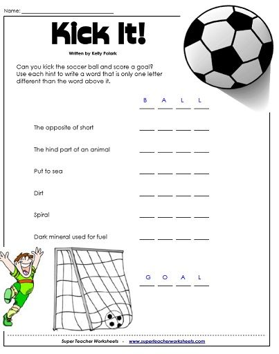 Brainteaser Worksheet Word Games Soccer Math Math