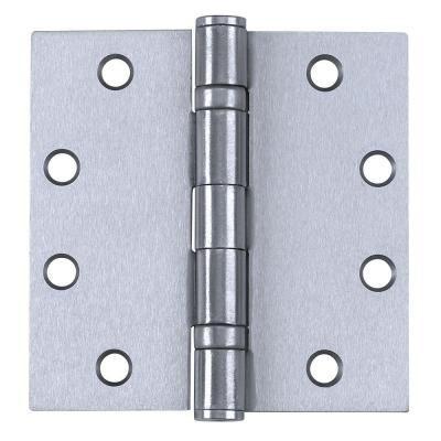 Tell Manufacturing 4 5 In X 4 5 In Satin Chrome Ball Bearing Hinge 3 Per Box Door Hinges Doors Door Handles