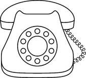 Dial Stock Illustrations Telephone Drawing Phone Free Coloring Pages