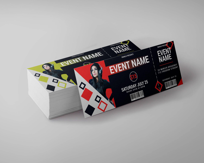 Event Ticket Design Template Birthday Ticket Party Etsy Event Tickets Design Ticket Design Ticket Design Template
