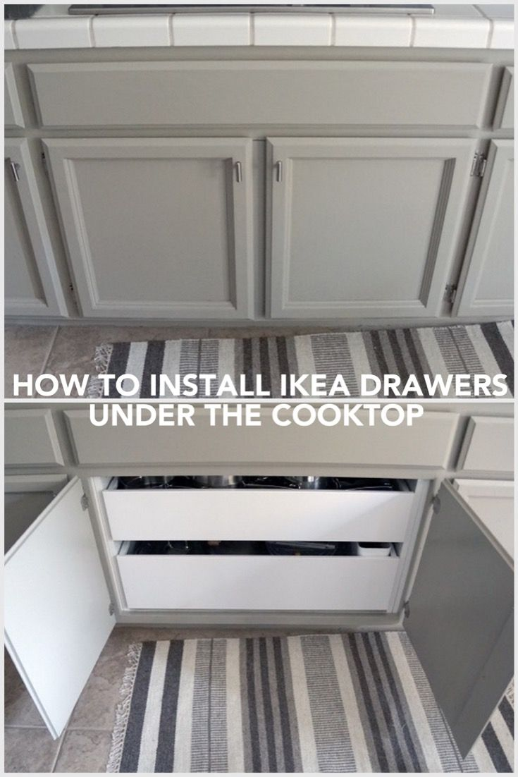 Best How To Install Drawer Pullouts Under A Cooktop Ikea 400 x 300