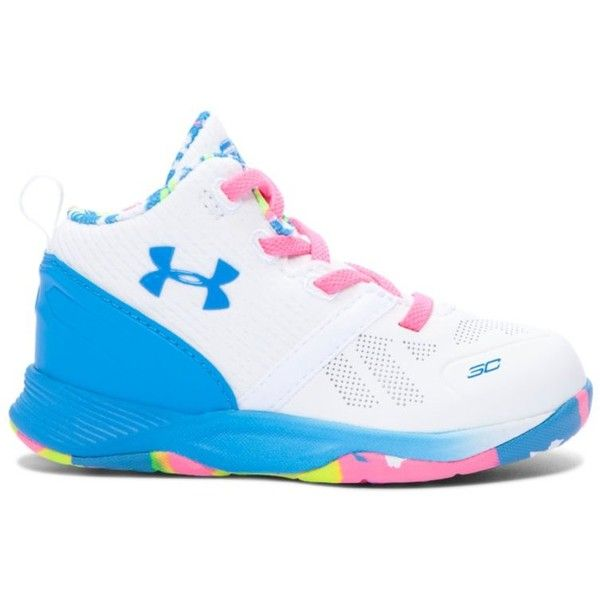 9f34602cc8ec Under Armour Kids  Infant UA Curry Two Basketball Shoe ( 50) ❤ liked on  Polyvore featuring white