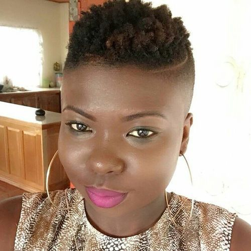 Low Cut Fade Mohawk For Black Women Headband Short Hair Styles