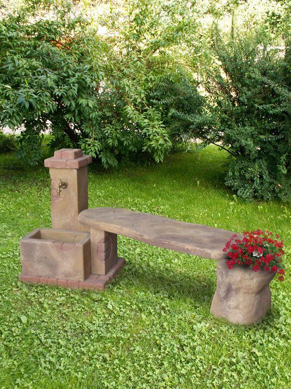 Fonte del casale con panchina fontane da giardino r c - Giardini con fontane ...