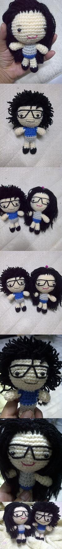couple dolls crochet by me