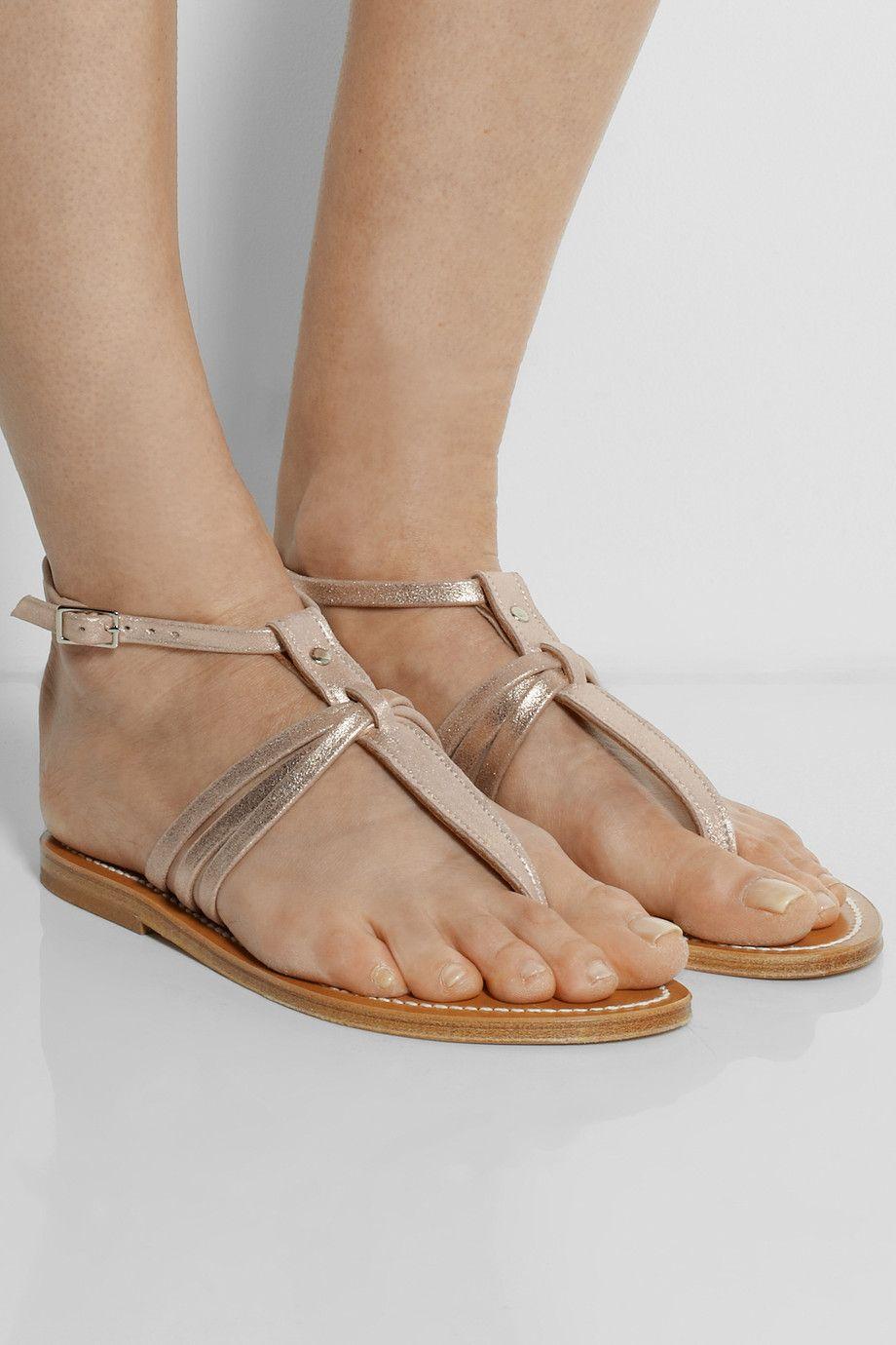 K Jacques St. Tropez Metallic Leather Sandals high quality online nQ951Bncm