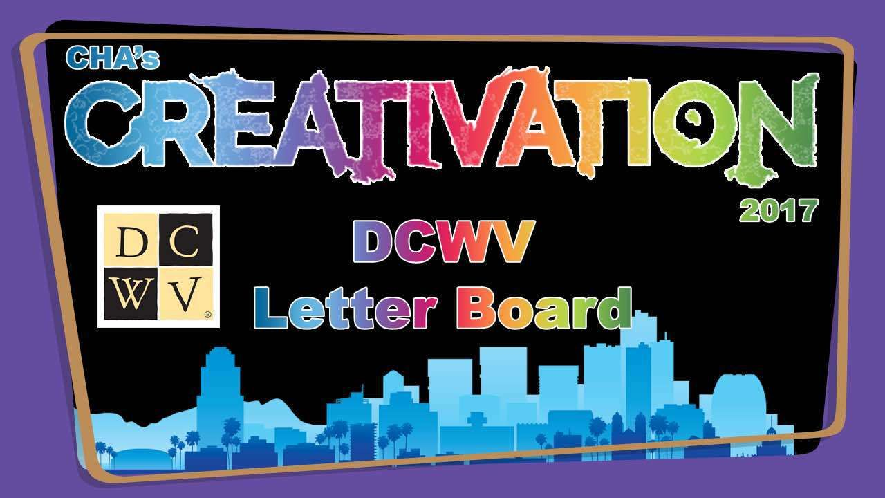 DCWV Letter Board - Creativation 2017 - http://www.craftsbytwo.com/dcwv-letter-board-creativation-2017/ Get your message out with DCWV's Letter Boards! With a variety of letters and iconsyou can have messages, menus, greetings and more throughout your home and office. Join us for a quick look!  DCWV LetterBoard DCWV (Die Cuts With a View –http://www.dcwv.com) brings us Letter Boards...