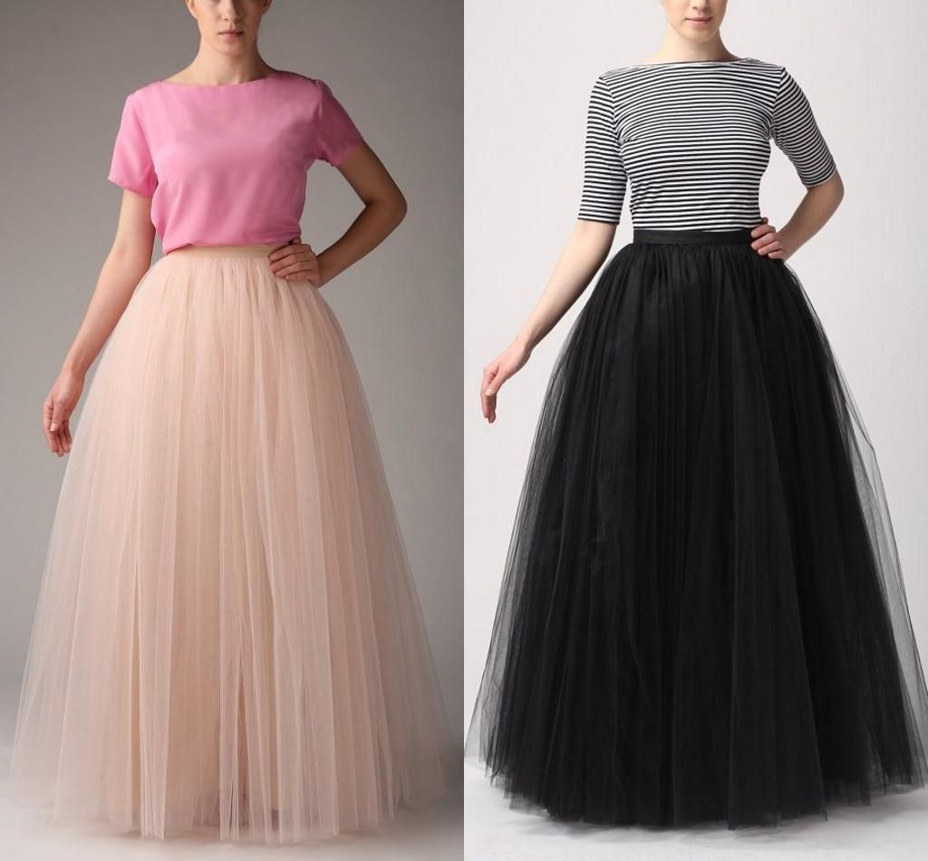 Buy Fashion Simple Women Skirts All Colors 5 layer Floor Length 2015 Adult Long Tutu Tulle Skirt A Line Plus Size Long Skirts Online with the Low Price: $36.15 | DHgate.com