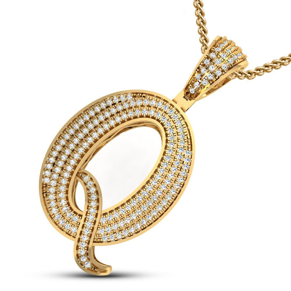 10k Yellow Gold Initial Q Charm Charms for Bracelets and Necklaces