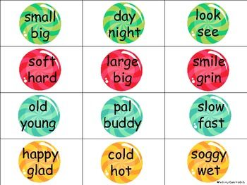 Antonyms and Synonyms | Language Materials | Synonyms