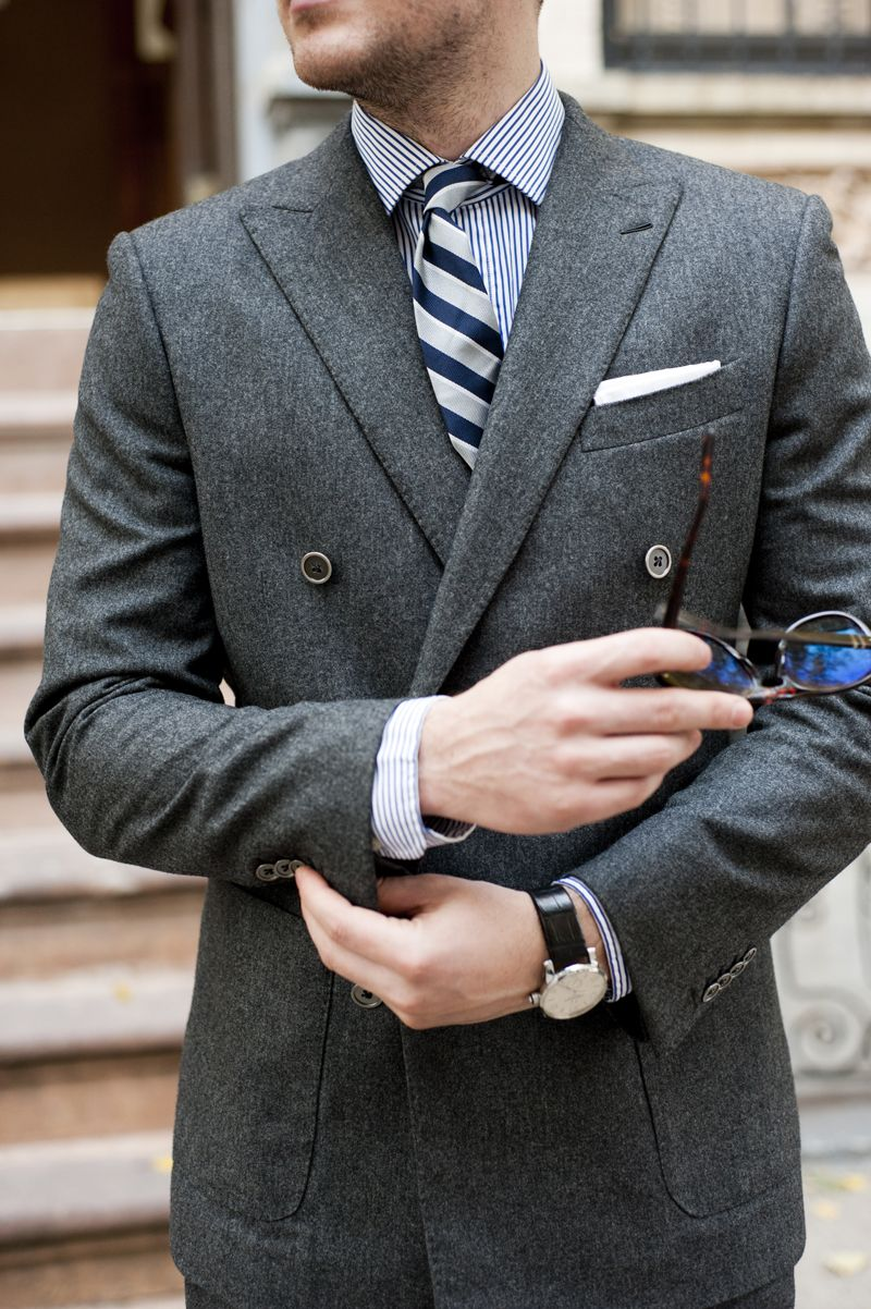 double breasted  My Style  Pinterest  Flannel suit Grey flannel